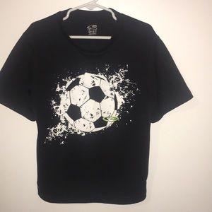 Boys champion short sleeve black Dri fit shirt